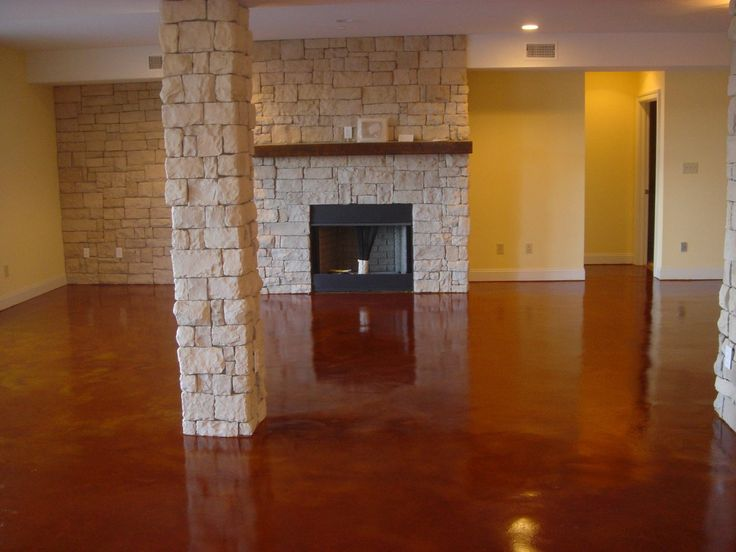 DIY Stained Concrete : How Do You Apply Sealer? We Will Teach You How To ·  Stained Cement FloorsConcrete Basement ...
