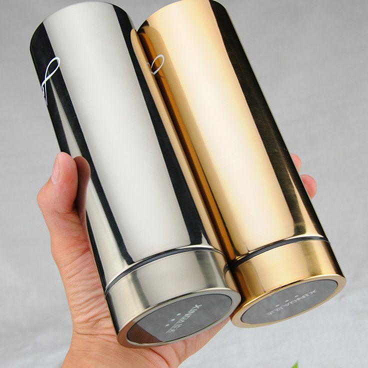 08daeb63124 Cool Appearance Stainless Steel Double Wall Vacuum Flask Coffee Mug ...