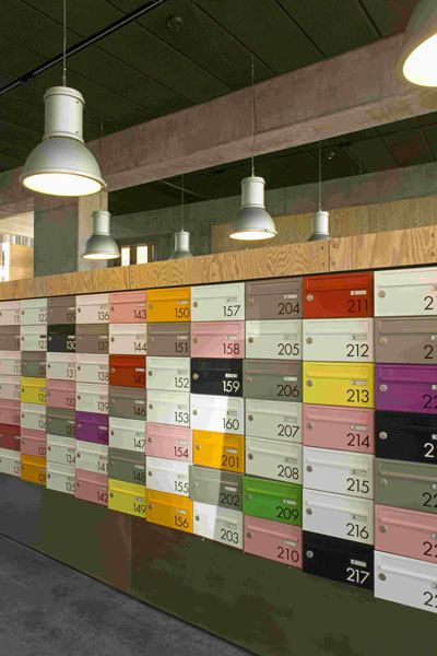 Studio Lockers. (This is actually a great spacial design example too)