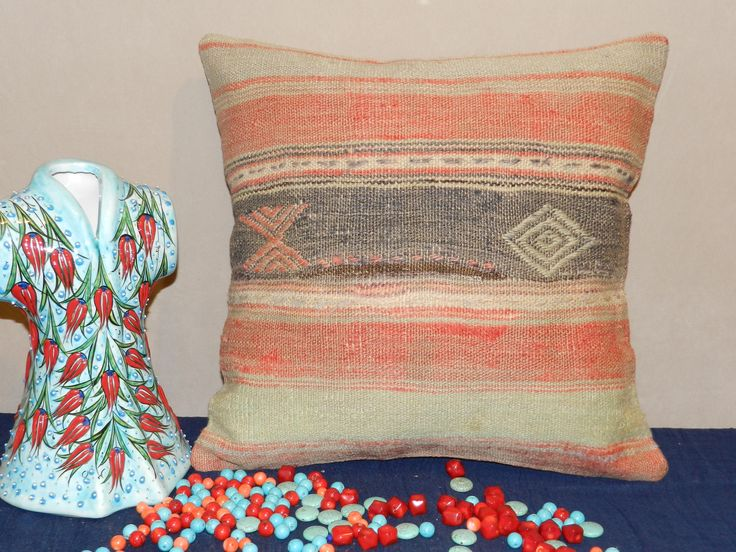Excited to share the latest addition to my #etsy shop: pillow covers,pillows,throw pillows,decorative vintage pillow,kilim pillow,turkish pillow,handmade pillow,decorativepillow,16x16inch,40x40cm