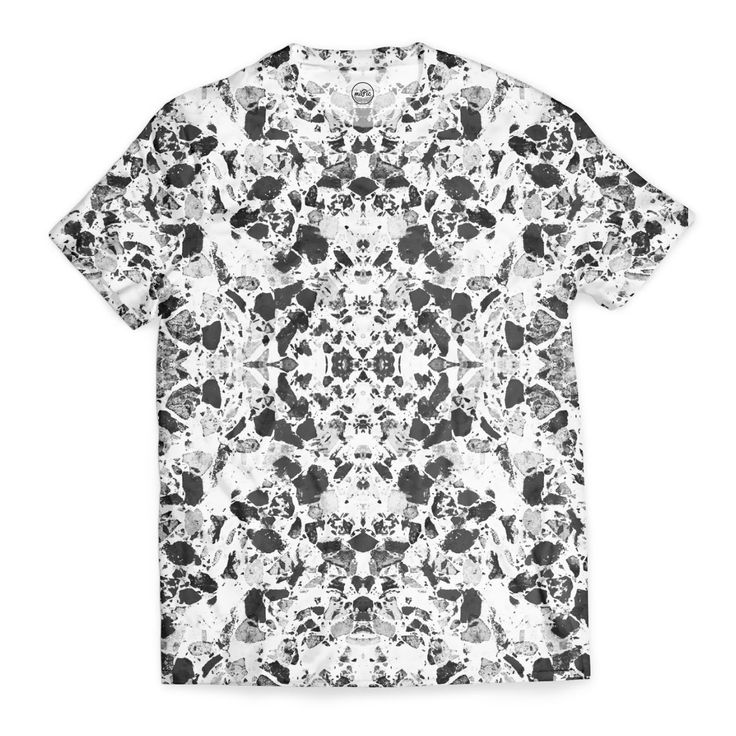 ELEGANT BLACK AND WHITE TERRAZZO TILE - on Unisex T-shirt -   Design by Dominique Vari  -  Check out my #miPic gallery and own my pics as awesome products! via @mipic_app    #fashion #tshirt #tee #outfitoftheday #beautiful #blackandwhite #terrazzo #style #modern #decor #marble #pattern #dominiquevari