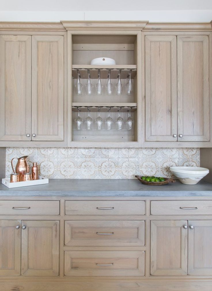 Marie Flanigan Interiors Summer Entertaining Perfecting Your Patio Style Kitchen Concrete Gray Stained Cabinetsstaining Oak