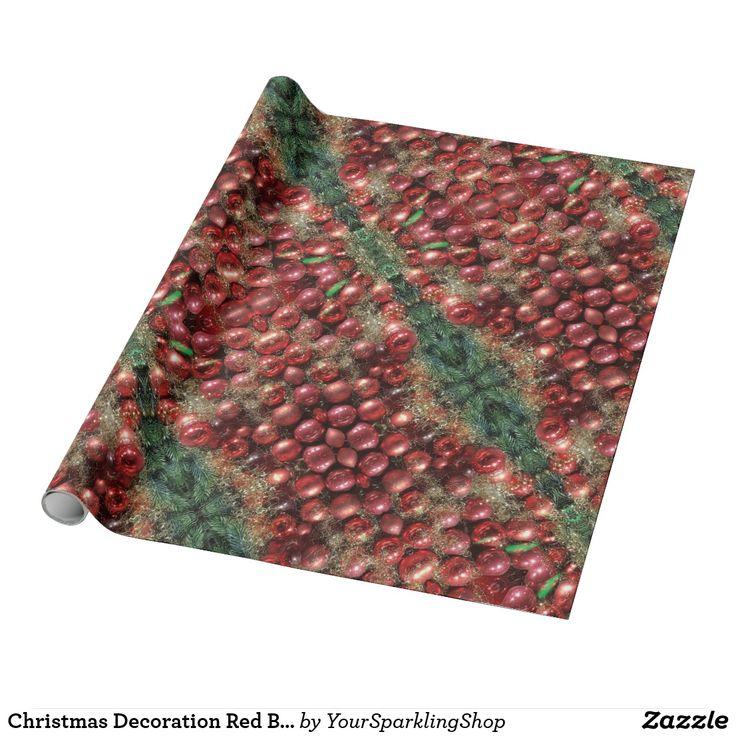 Christmas Decoration Red Baubles Fir Kaleidoscopic