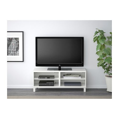 best tv bench oak effect 120x40x48 cm ikea tv tvs and cable. Black Bedroom Furniture Sets. Home Design Ideas