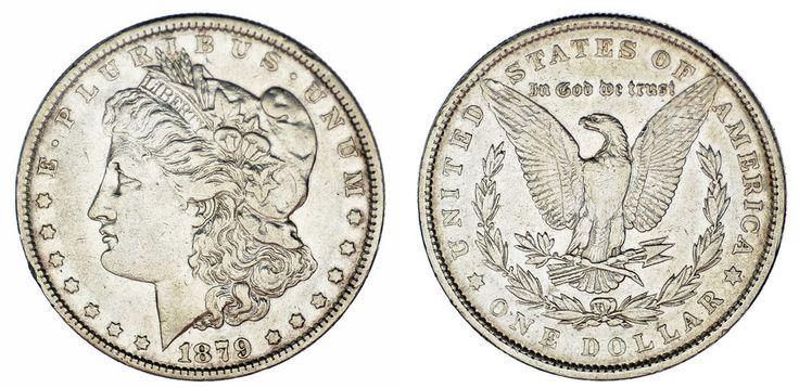 1 SILVER US DOLLAR / 1 DÓLAR MORGAN PLATA. PHILADELPHIA-FILADELFIA. 1879. VF/MBC