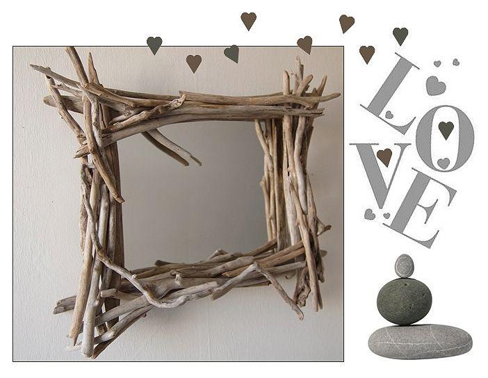 """Un miroir style """"branches"""" en bois flotté sur Au fil de l'eau"""