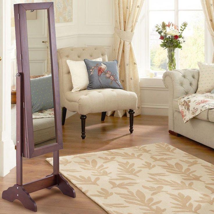Full Length Mirror Freestand Make Up Jewellery Cabinet Vanity Storage Armoire #FullLengthMirror