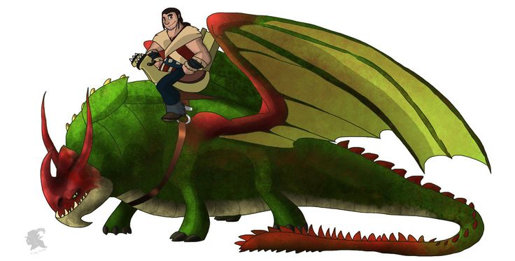 Eret and Skullcrusher | How to Train Your Dragon ...
