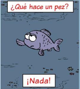¿Qué hace un pez? ¡Nada!