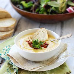 like cauliflower? Try this Creamy Roasted Garlic and Cauliflower Soup ...