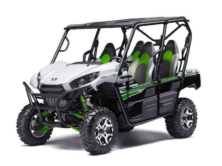 New 2017 Kawasaki Teryx4 LE ATVs For Sale in Michigan. 2017 Kawasaki Teryx4 LE, CALL 616-432-6262! TODAY!! 2017 Kawasaki TERYX® LE THE KAWASAKI DIFFERENCE KAWASAKI STRONG Known for its legendary V-Twin power and versatility, the Kawasaki Teryx is ready to tackle the toughest of obstacles. Built with Kawasaki Heavy Industries Ltd. strength and backed by the Kawasaki Strong 3-Year Warranty, the Teryx side x side is the ultimate off-road adventure partner. Aggressive front end styling…
