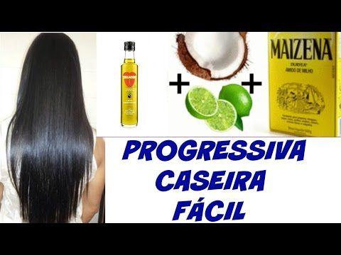 Progressiva caseira Leite de coco, limão, maizena e oleo de coco - YouTube