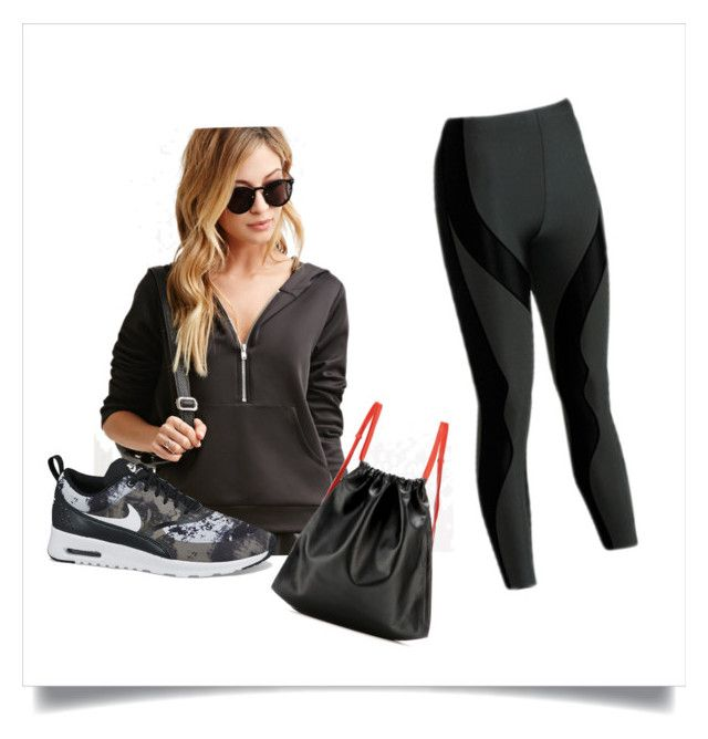 Athletic Look by anneperry on Polyvore featuring Forever 21, CW-X, NIKE, and Alexander Wang