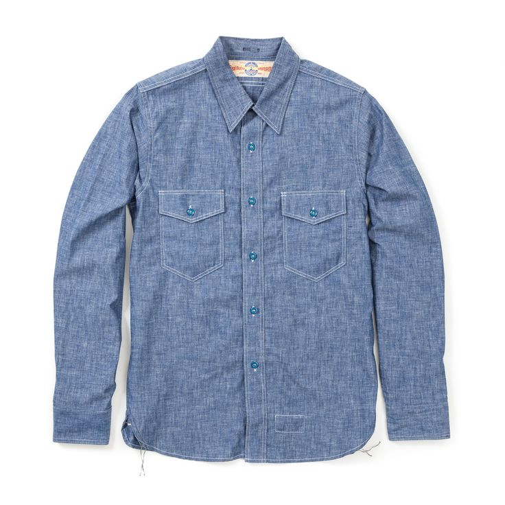 The Real McCoy's U.S. Navy Chambray Shirt - Blue (No Stencil) - THE REAL MCCOY'S - BRANDS - Superdenim