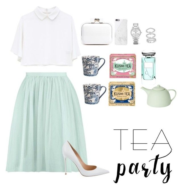 Another tea party by creece-massoudi on Polyvore featuring polyvore, fashion, style, Gianvito Rossi, Boohoo, Swarovski, Michael Kors, Native Union, By Terry, Kusmi Tea, Mud Australia, Simple Life and clothing