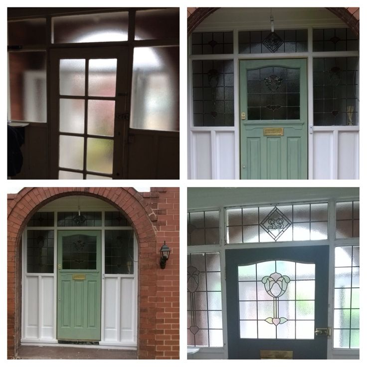 Putting original features back into homes.  Removal of horrible 60/70s glazed door and install original 1930s door with stained glass surround.  Removed the porch to open up the brick arch and show the door how it was meant to be.  After all the door is the first thing you see & will certainly pay for itself with the value they add.   Create your own dream door and glass here at www.strippadoor.co.uk