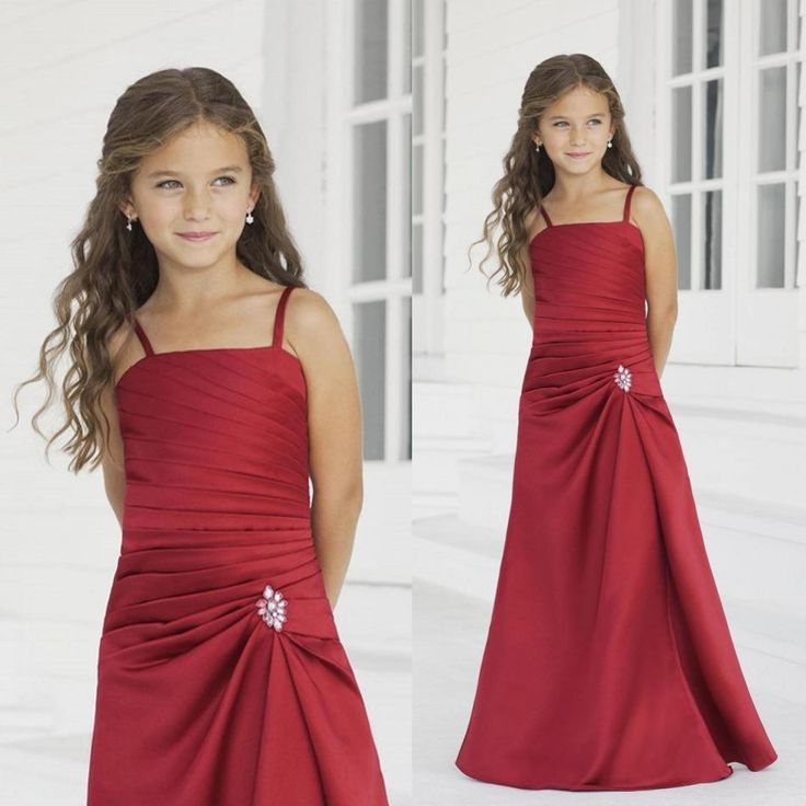 Princess Dresses For Toddlers 2015 Cute Red Sheath Flower Girls Dresses Spaghetti Strap Backless Floor Length Taffeta Wedding Party Dresses For Girl Formal Occasion Gowns Infant Formal Dresses From Wheretoget, $65.97| Dhgate.Com