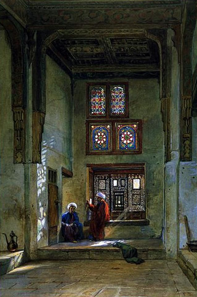 The House of Radwan Bey - Cairo - 1875 BY Frank Dillon (British , 1823-1909)