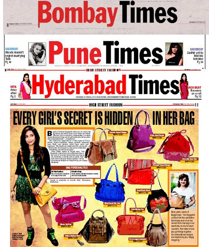 We're thrilled to say we made it to the pages of Bombay Times, Hyderabad times and Pune Times!