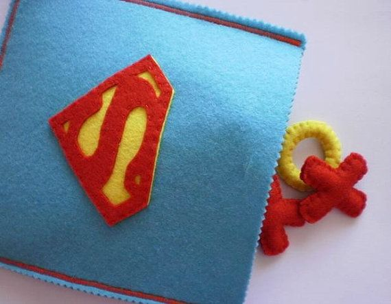 Felt Tic Tac Toe Superman Game Boys Birthday by twinsandcrafts