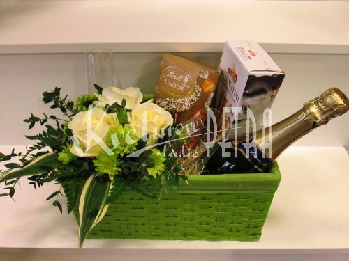 Dárkové koše   Exklusivní dárková kazeta Evald   Květiny online, prodej a rozvoz květin