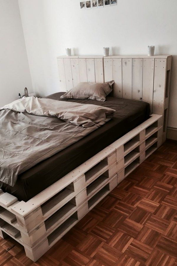 12 Creative Crate Style Bedroom Furniture Designs You Can Use To Transform Your Home Decor Pallet Bedroom Pallet Furniture Bedroom Diy Pallet Bed Bedroom Diy