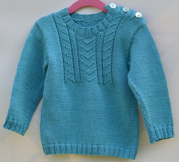 Boys Jumper Cotton Sweater Toddler Boy Clothes by CJsHandknits