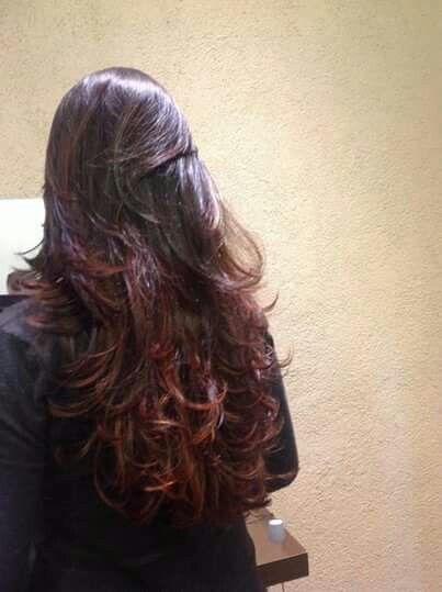 Ombre hair vermelho