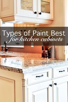 Types of Paint Best For Painting Kitchen Cabinets plus painting tips.