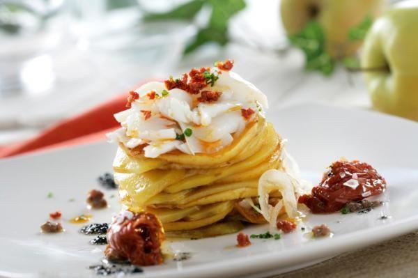 Milhojas De Papas Al Horno Receta Fácil Receta Milhojas De Papa Comidas Con Papas Recetas Con Papas