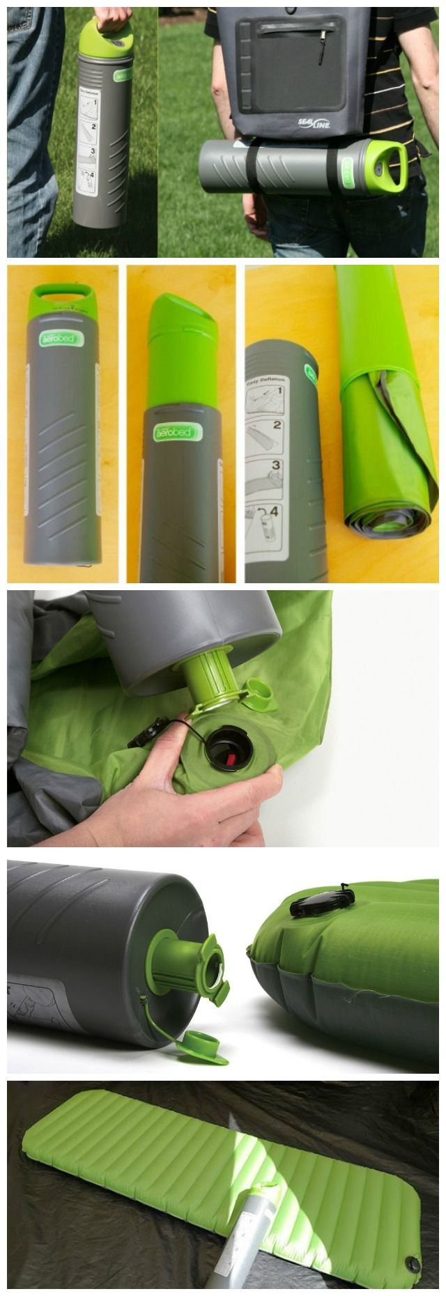 "Some may consider bringing along an air bed on a camping trip more of a ""glamping"" trip but if you can squeeze that air bed into a  6.0 inch x 19.5 inch cylinder that also doubles up as the air pump, we say, ""Why not?"""