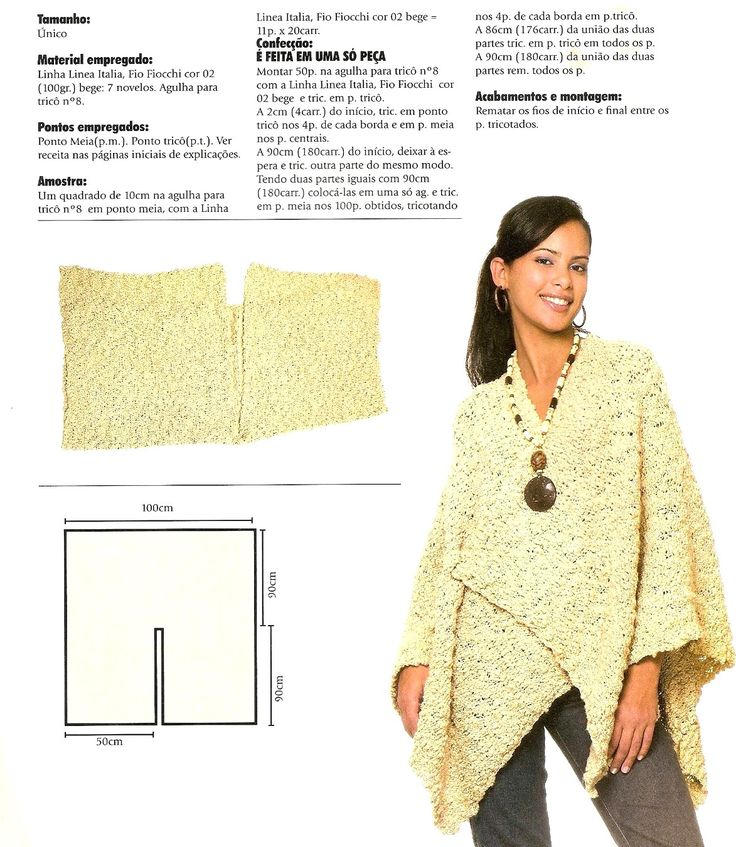 72 best Ponchos images on Pinterest | Knitting patterns, Ponchos and ...