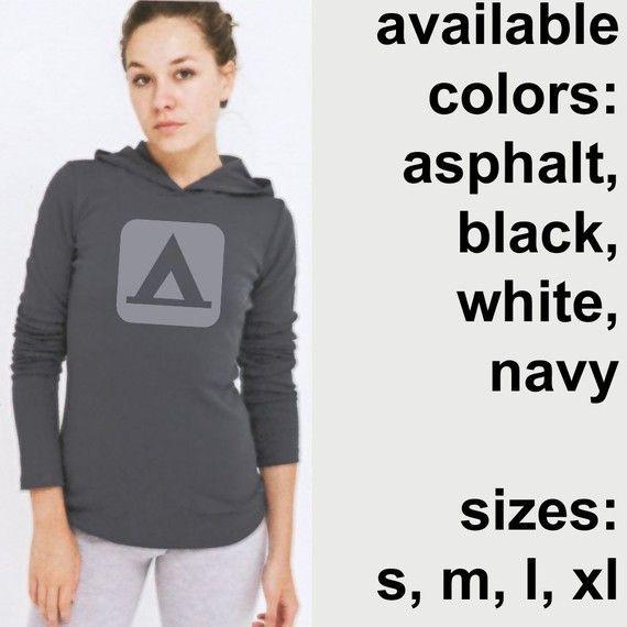 Camping Hooded Long Sleeve TShirt American by elementalshop