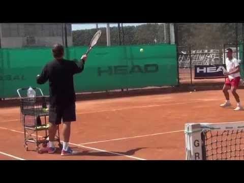 Square Drill with Esteban Ortega at Sanchez-Casal, Barcelona – Rob Cherry Tennis | Free Tennis Coaching Videos & Articles | Irish Tennis News