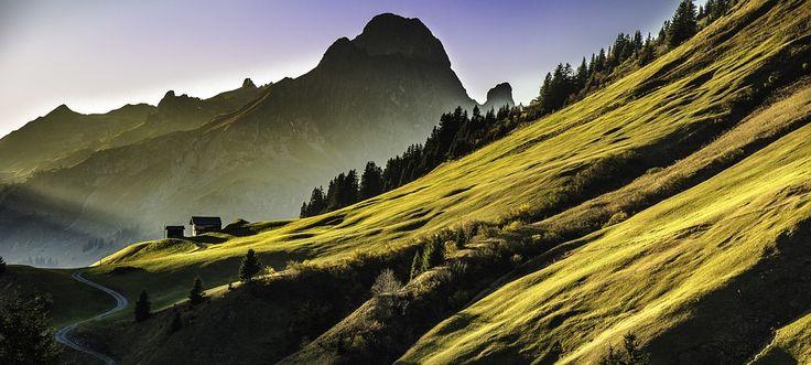 Free photo: Landscape, Mountains, Abendstimmung - Free Image on ...