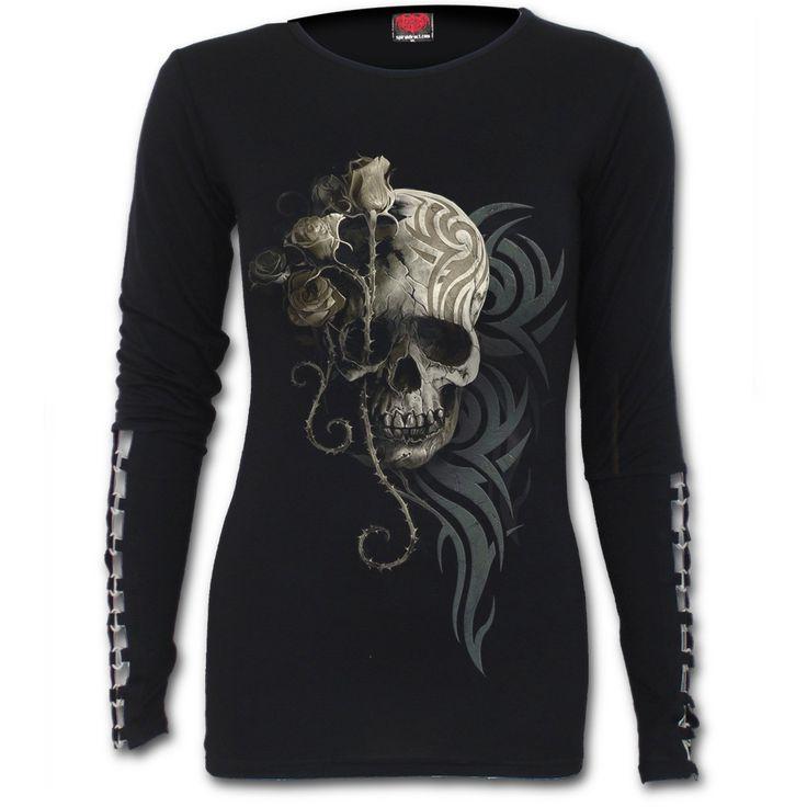 Camiseta Dark Angel Spiral  #calavera #skull #ropa #gotica #gothic #clothing #xtremonline