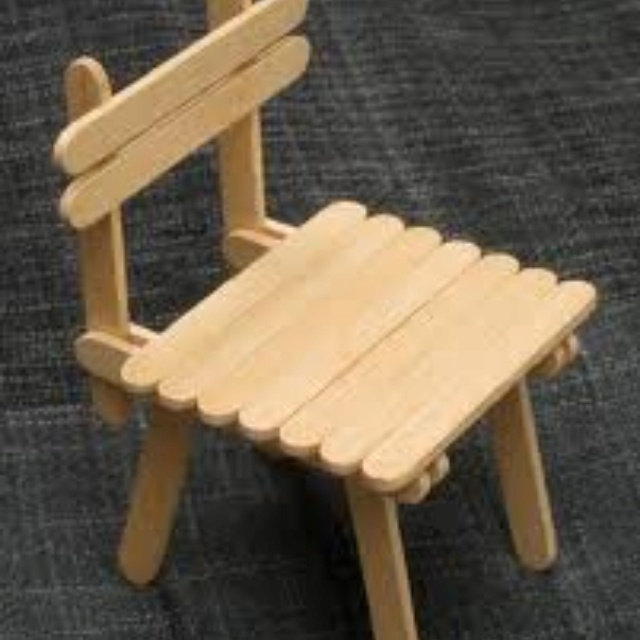 Popsicle Stick House With Table And Chairs Casa Y