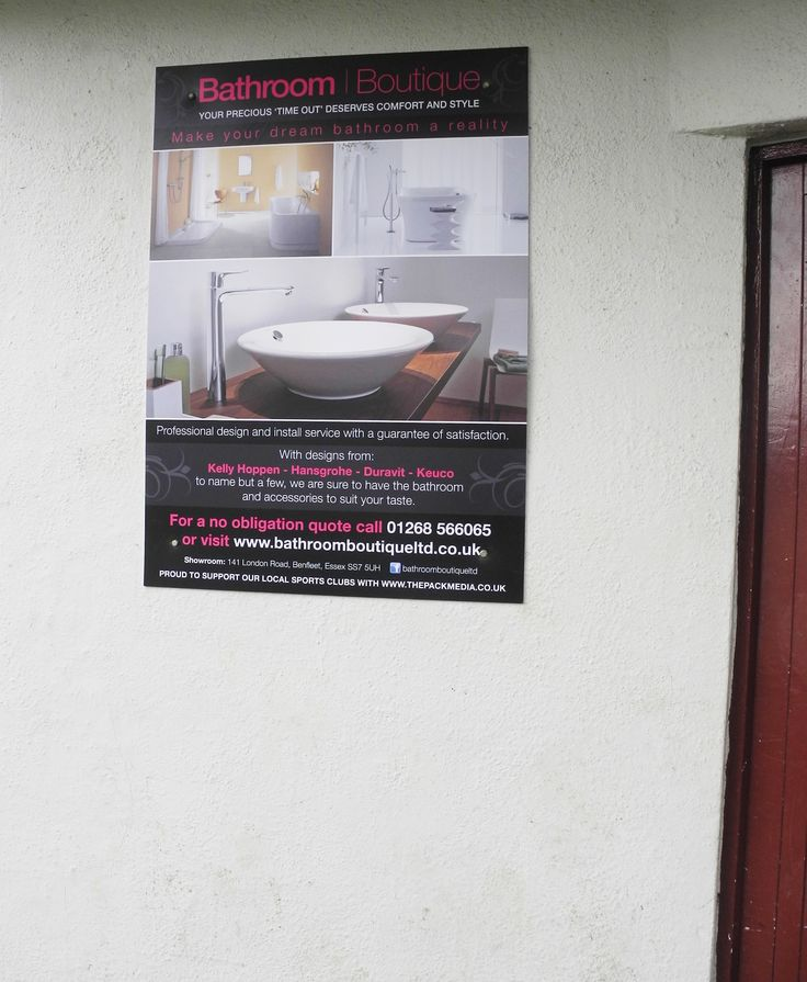 Our sponsorship poster. Check it out to make your dream Bathroom a reality!