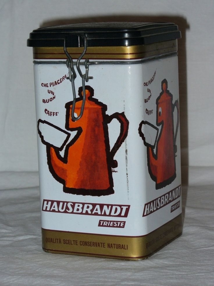 HAUSBRANDT- coffee can 70s