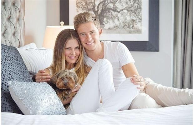 Real Housewives of Vancouver star Mary Zilba pictured with son Cole Anderson. Cole will spend the summer working for the William J. Clinton Foundation.