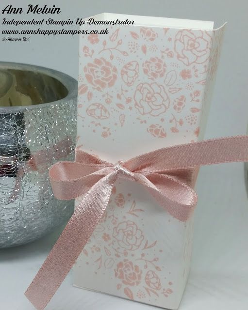 Ann's Happy Stampers: Free Standing Perfume Gift Box Using Wood Words