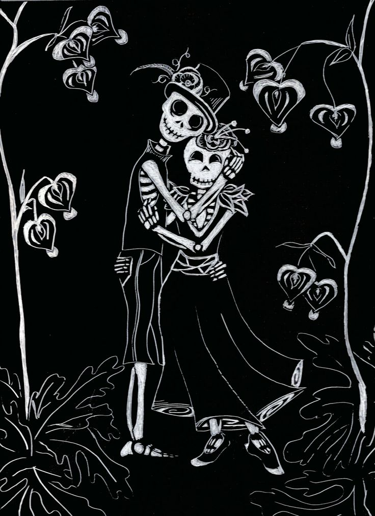 Dia de los Muertos art - i love how everything about it is dark and morbid, but you get an overall warm feeling inside when you see it :)