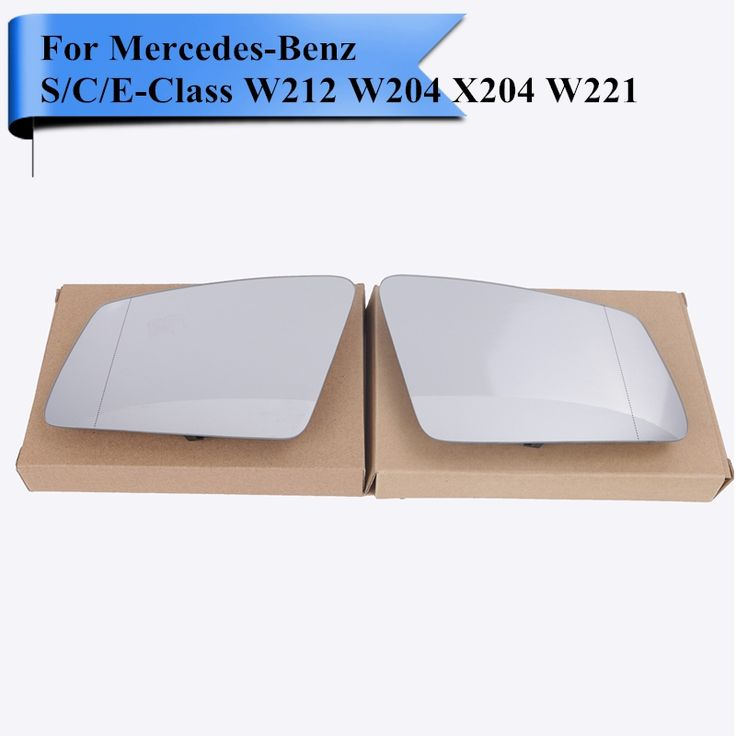 48.08$  Buy now - Car Exterior Heated Door Mirror Glass with Backing Plate Blind Line For Mercedes Benz S / C / E Class W212 W204 X204 W221 #W117  #magazineonlinewebsite
