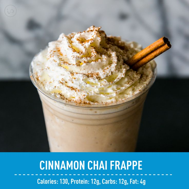 What's creamy, icy, and low in calories?? This Frappe, of course! ‍♀️ Move over Starbucks, this drink is only 130 calories of pure deliciousness!!     ☕️Cinnamon Chai Frappe☕️  1 scoop Cinnamon Bun IdealShake  ½ cup brewed chai tea  ½ cup unsweetened almond milk  1 cup ice  2 tbsp fat free whip cream (optional)   -Directions-  Blend Cinnamon Bun IdealShake, chai tea, almond milk, and ice until smooth. Add more ice if thicker consistency is desired. Top with fat free whip cream and enjoy…