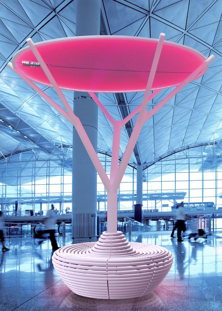 L'Arbre de Lumière ZESTE (en acier) / The Urban Tree of Light ZESTE (in steel)
