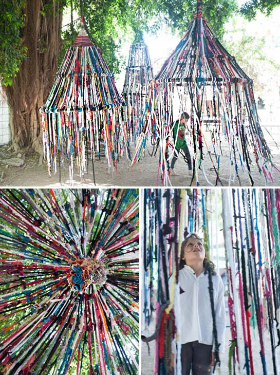 I saw this on Design Sponge over the weekend and was so wowed by it — both as a public art project and as a bit of DIY inspiration. It's the brainchild of architect Tali Buchler, who describe…