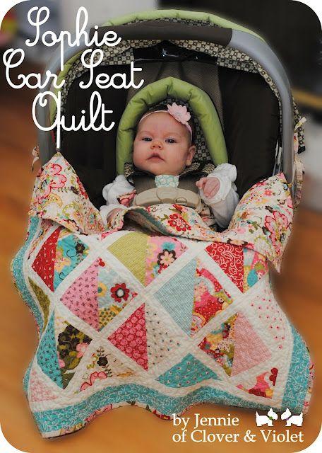 Moda bake Shop:  Sophie Car seat quilt  #modabakeshop #modafabrics #lovepinwin