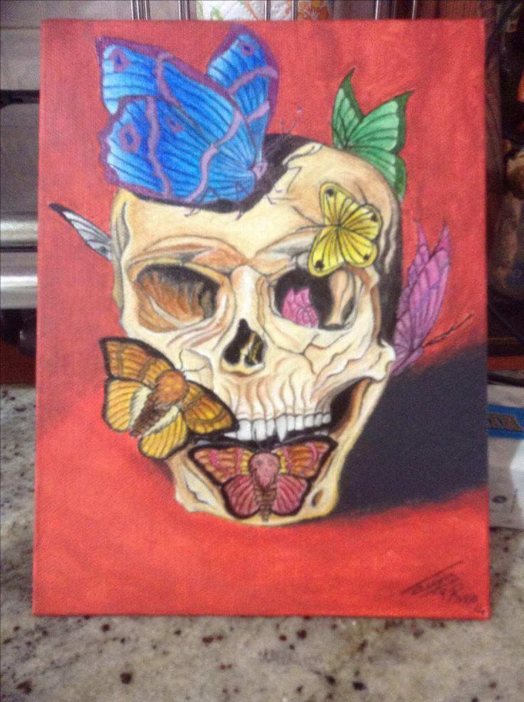 Cosa sarebbe la vita senza la morte?  Oil on canvas