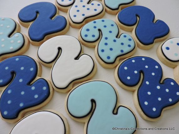 Number 2 Hand decorated sugar cookies for Birthdays (#2413)