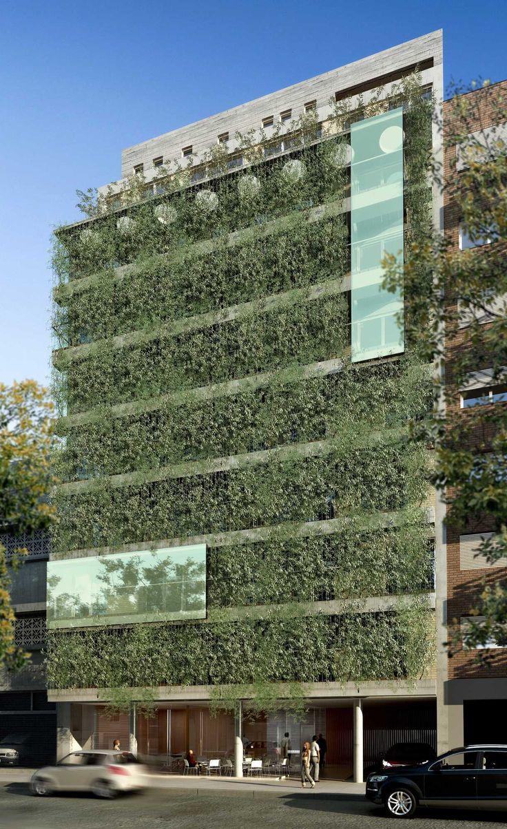 AMENÁBAR | Proyecto C. Autores: Arq. Sebastián Cseh - Arq. Juan Cruz Catania.  #arquitectura  #architecture  #greenwall #jardinvertical